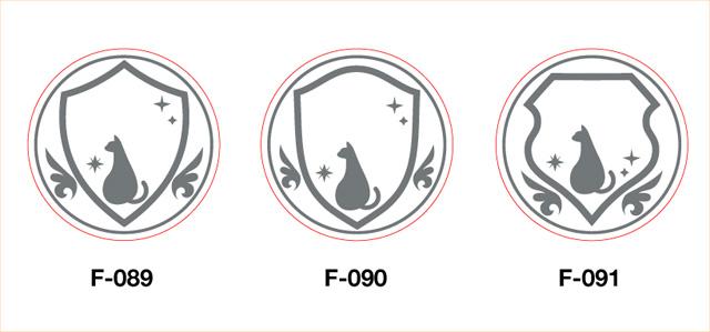 オリジナルデザイン・セミオーダー・シーリングスタンプの新フレーム・猫シリーズ