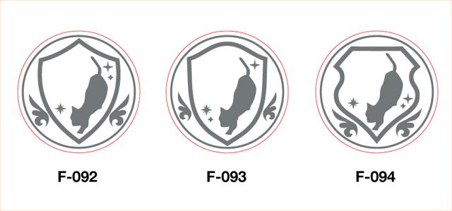 オリジナルデザイン・セミオーダー・シーリングスタンプの新フレーム・猫シリーズ2
